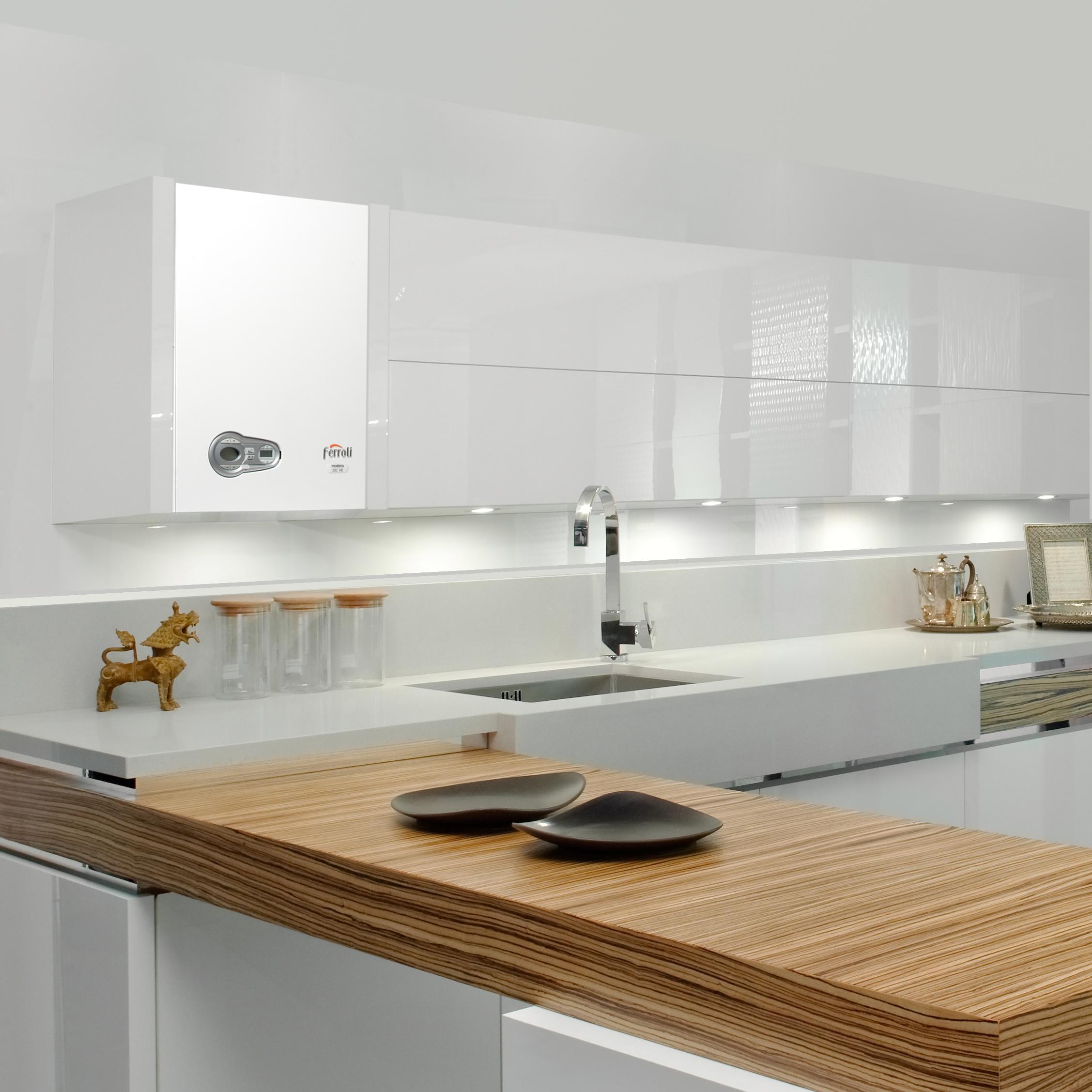 Media ferroli italian boiler manufacturer domestic and for Kitchen set modena